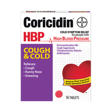 Load image into Gallery viewer, Coricidin® HBP Cough & Cold Relief Tablets