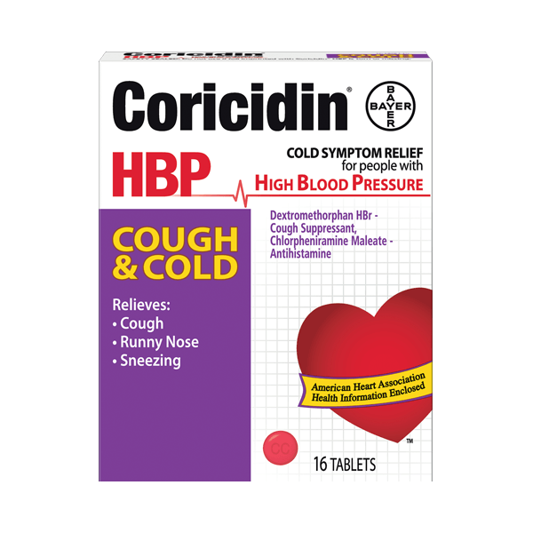 Coricidin® HBP Cough & Cold Relief Tablets