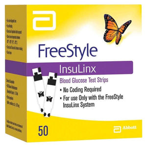 FreeStyle InsuLinx Blood Glucose Test Strips 50 ct.