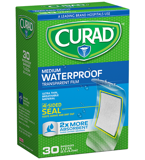 Curad® Waterproof Transparent Film Bandage 30ct