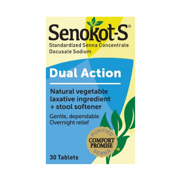 Senokot-S®  Dual Action Laxative & Stool Softener