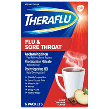 Load image into Gallery viewer, Theraflu Flu & Sore Throat Relief Packets