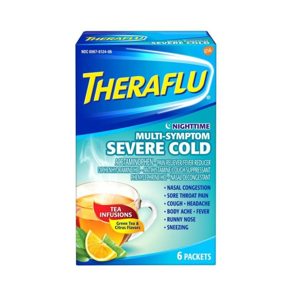 Theraflu Multi-Symptom Severe Cold Nighttime Packets