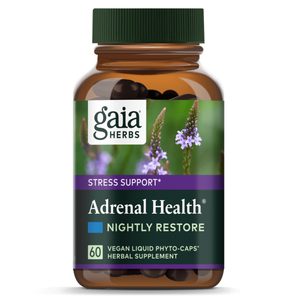 Gaia® Herbs Adrenal Health® Nightly Restore Capsules 60ct.