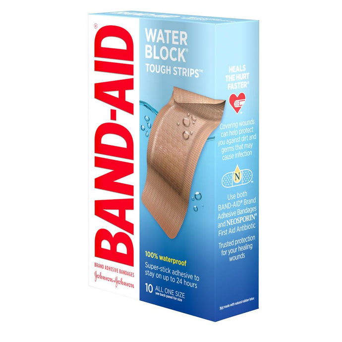 BAND-AID® Water Block Tough Strips