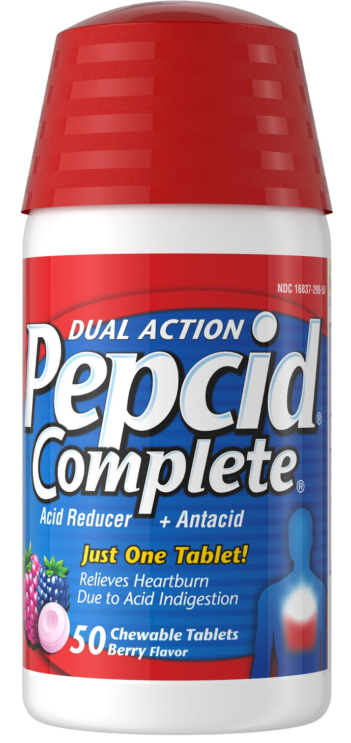 Pepcid® Dual Action Complete Berry Chewable Tablets 50ct.