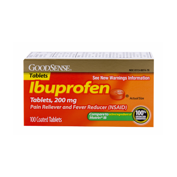 GoodSense® Ibuprofen 200mg (Compare to Motrin IB)