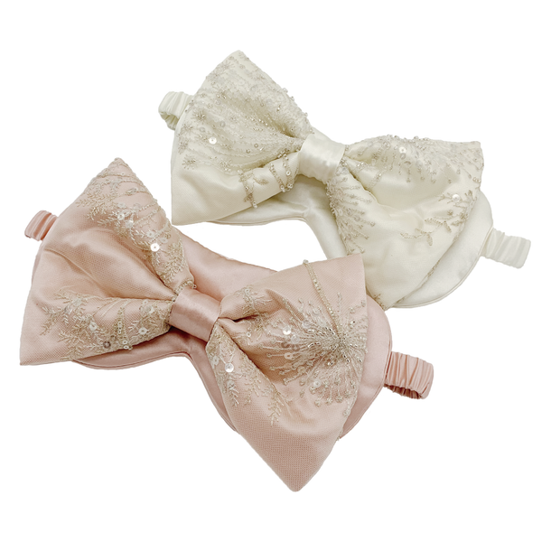 Luscious Lace Silk Bow with Eye Mask (WITHOUT Nanotech)