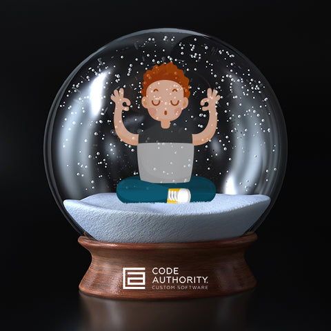 Coder in a Snow Globe