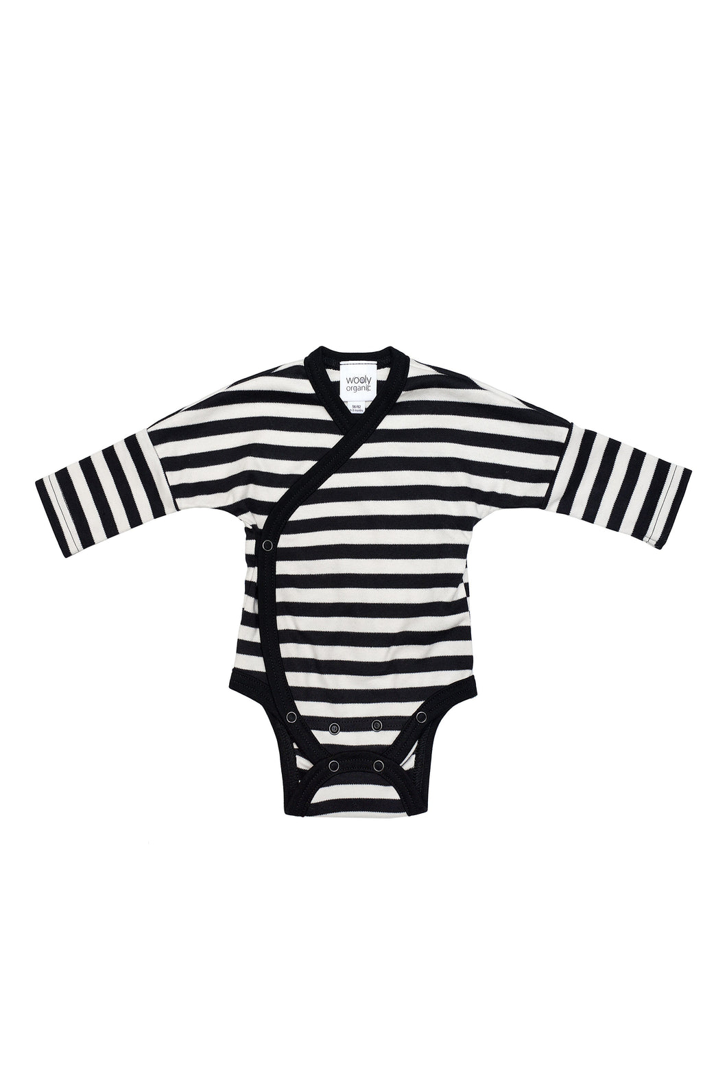 Baby Long sleeve Kimono Body -Black & White
