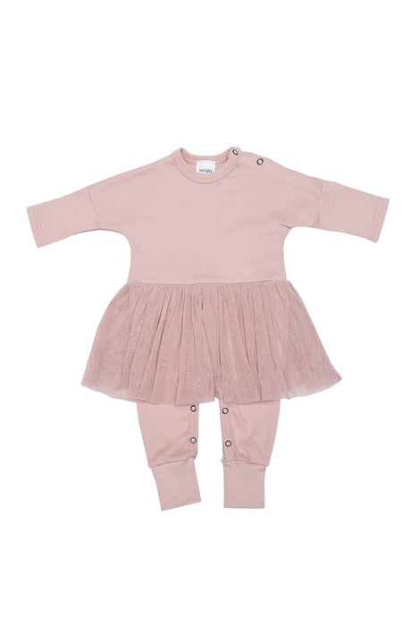 WOOLY ORGANIC Baby SLEEP SUIT with TUTU