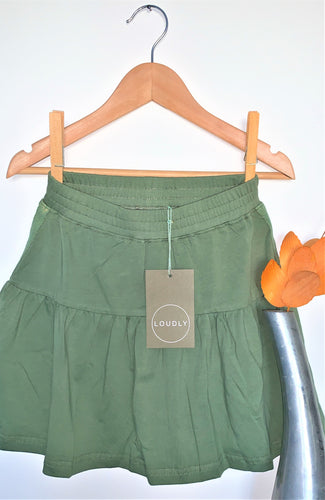 LOUDLY TODDLER Gia Skirt - Organic Cotton Dusty Green