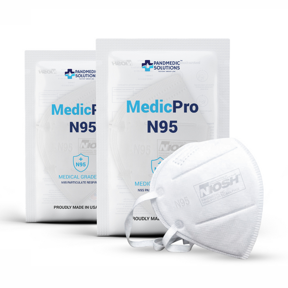 N95 Mask, NIOSH Approved, Pkg of 50, Made in USA