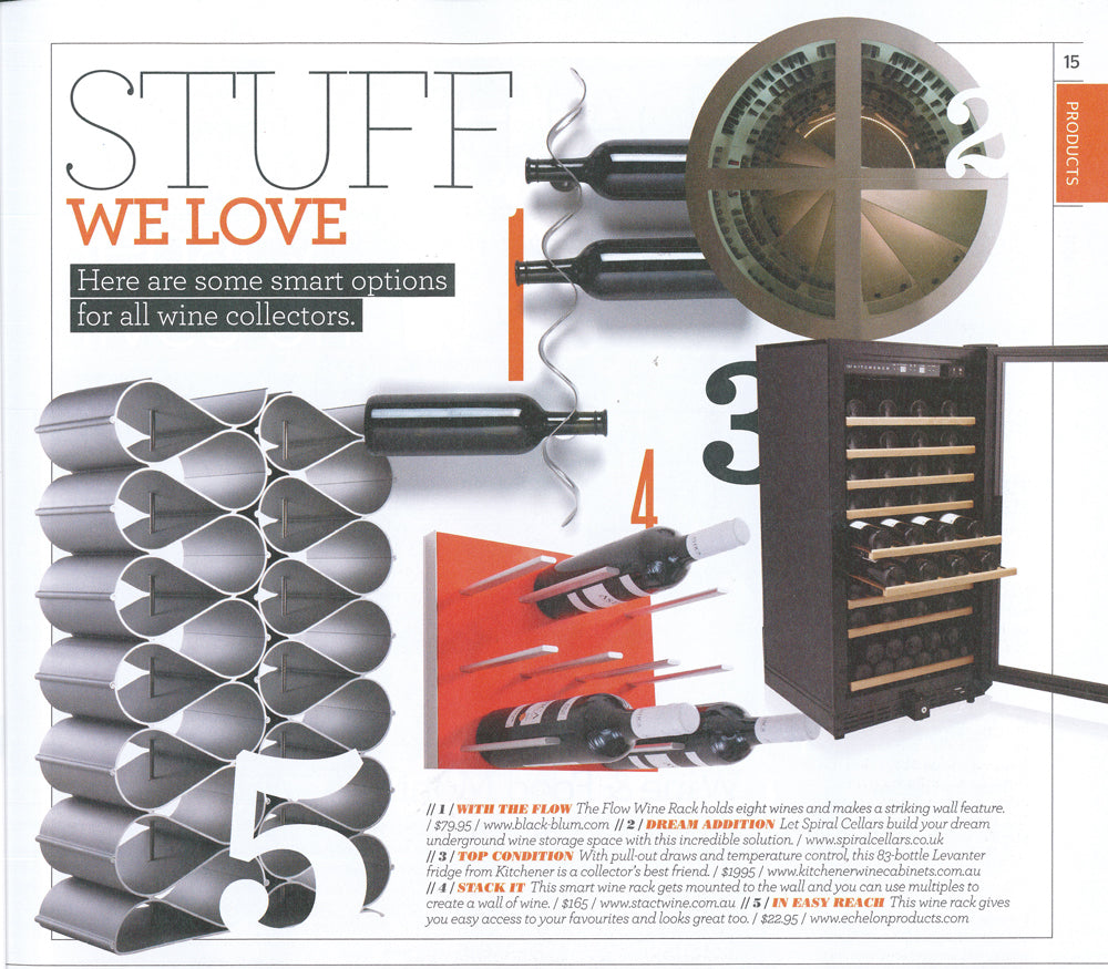 STACT Wine Racks featured in James Halidays Wine Companion