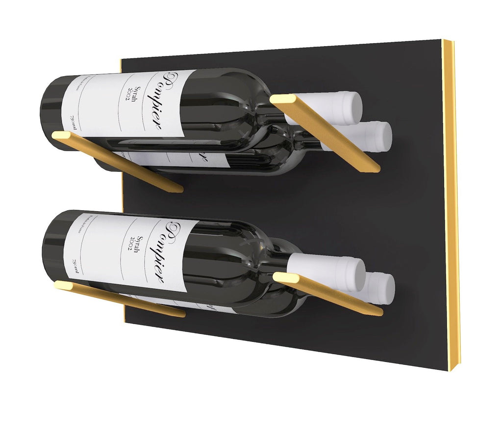 STACT Wine Rack Premier L Type- Black & Gold