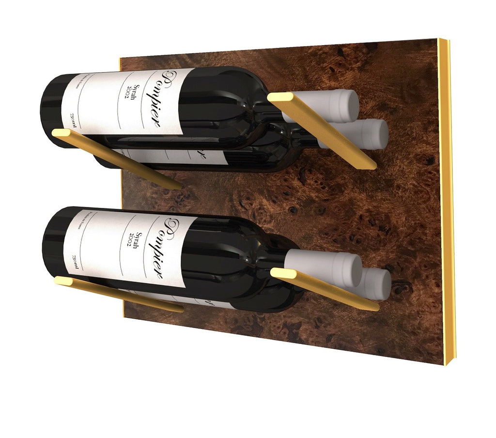 STACT Wine Rack Premier L Type- Burl & Gold