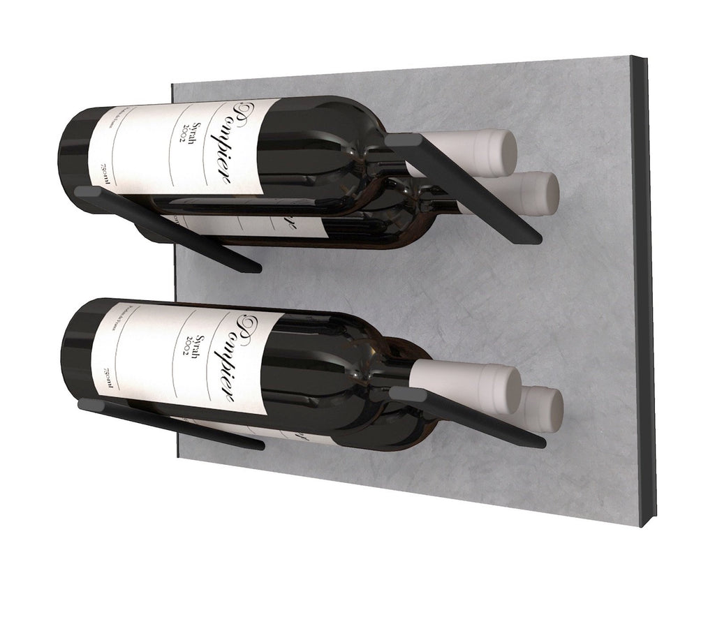 STACT Wine Rack Premier L Type- Concrete & Black