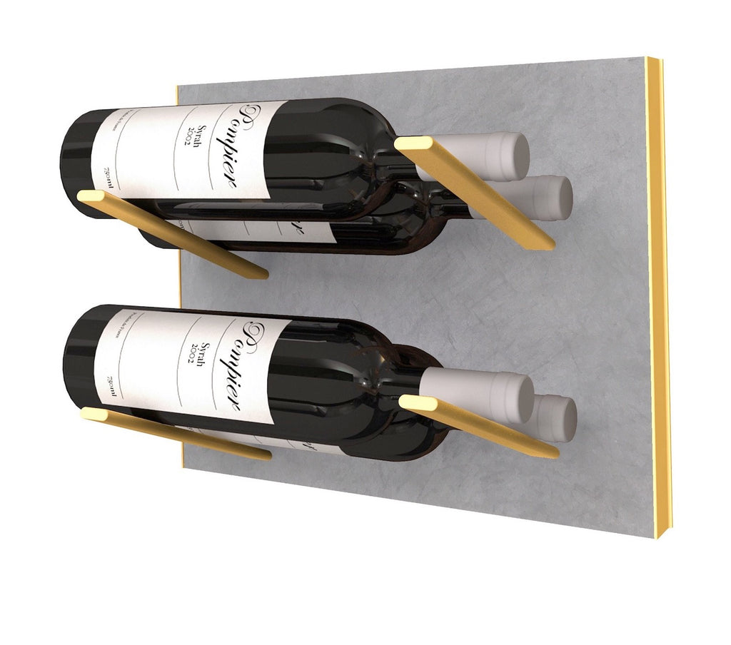 STACT Wine Rack Premier L Type- Concrete & Gold