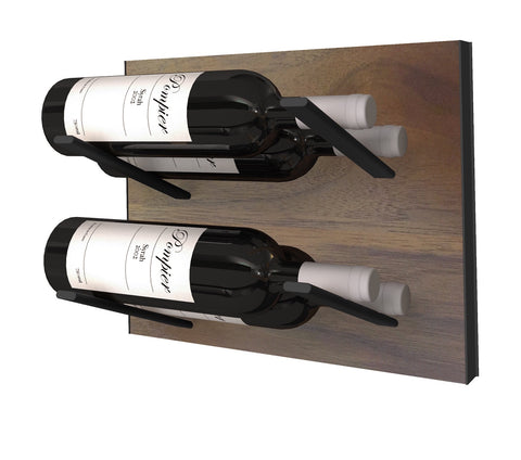 STACT Wine Rack Premier L Type- Walnut & Black