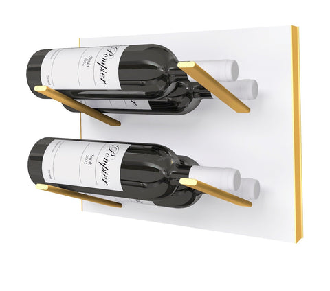 STACT Wine Rack Premier L Type- White & Gold
