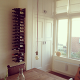 STACT white oak wine racks suits bohemian or chic decor