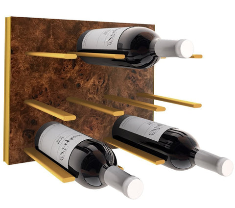 STACT Wine Rack - Burl & Gold
