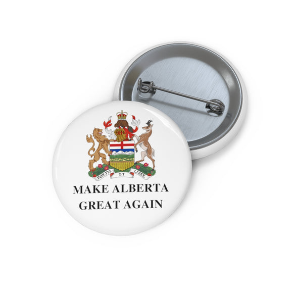 Make Alberta Great Again Pins with Coat of Arms