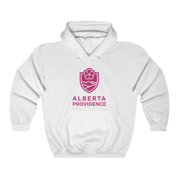 Alberta Providence Lightweight Hoodie Pink W/ Text
