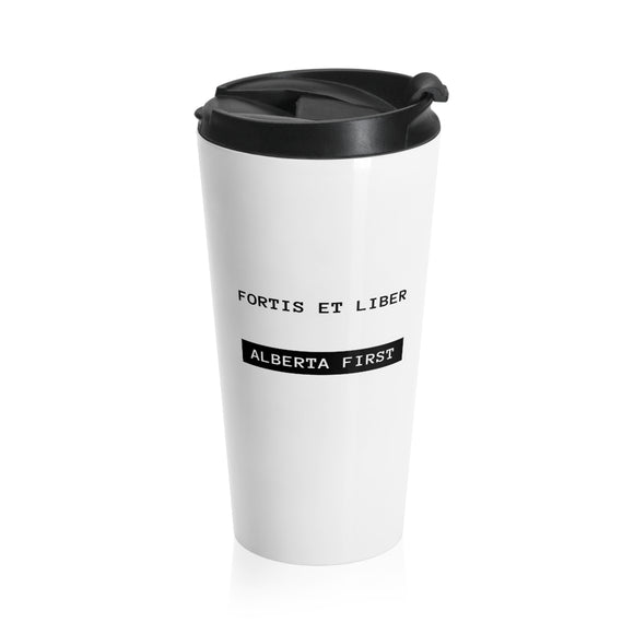 Alberta First Stainless Steel Travel Mug