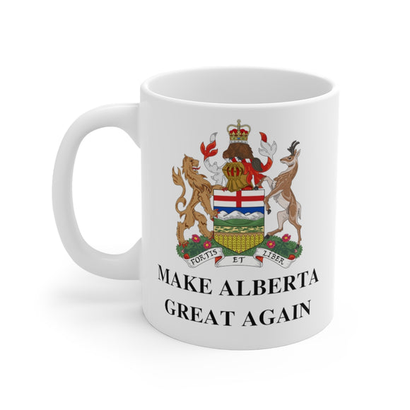 Alberta Coat of Arms Make Alberta Great Again Coffee Mug