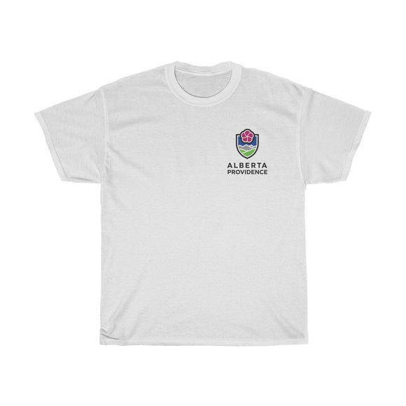 Alberta Providence Tee - Small Logo W/ Text Over Heart
