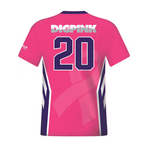 Men's Custom Fuse Dig Pink® Sublimated Volleyball Jersey