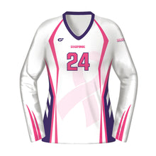 Load image into Gallery viewer, Women's Custom Fuse Dig Pink® Sublimated Long Sleeve Volleyball Jersey