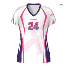 Load image into Gallery viewer, Women's Custom Fuse Dig Pink® Sublimated Cap Sleeve Volleyball Jersey
