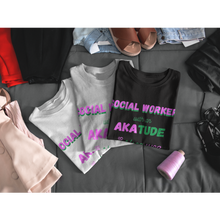 "Load image into Gallery viewer, ""AKAtude_Social Worker"" Jersey T-Shirt by Bella + Canvas"