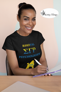 """Rhoyal_Psychologist""  Jersey T-Shirt by Bella + Canvas"