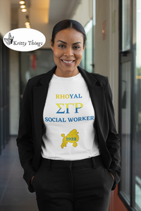 """Rhoyal_Social Worker Jersey T-Shirt by Bella + Canvas"