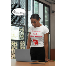 "Load image into Gallery viewer, ""DivaStating_Social Worker"" Jersey T-Shirt by Bella + Canvas."