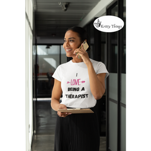 """I love being a therapist"" Jersey T-Shirt by Bella + Canvas"