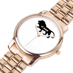 Lion of Judah Stainless Steel Ban Wrist Watch