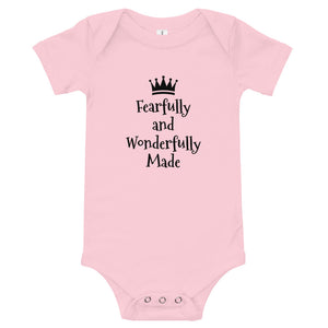 """Fearfully and Wonderfully Made""  Baby T-Shirt"