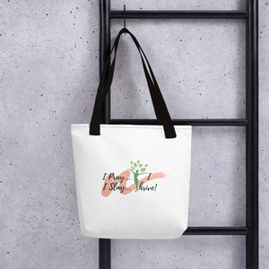 Pray/Slay/Thrive White Tote bag