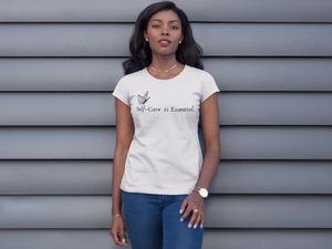 """Self Care is Essential"" Jersey T-Shirt by Bella + Canvas"