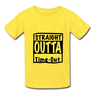 Hanes Youth Tagless T-Shirt - yellow
