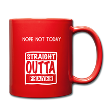"Load image into Gallery viewer, ""NOPE NOT TODAY""  Mug - red"