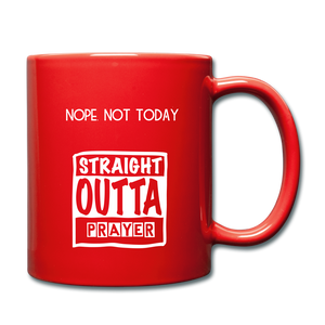 """NOPE NOT TODAY""  Mug - red"