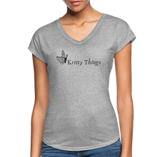 Load image into Gallery viewer, Women's Tri-Blend V-Neck T-Shirt - heather gray