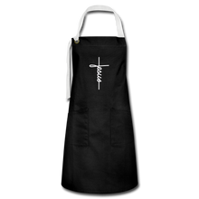 Load image into Gallery viewer, Signature Jesus Artisan Apron - black/white