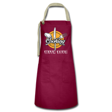 Load image into Gallery viewer, Cooking with Love Artisan Apron - burgundy/khaki