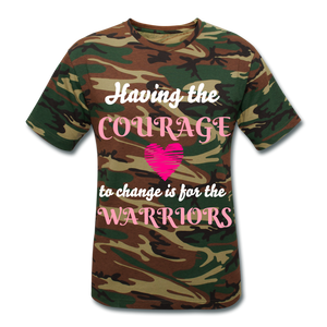 Courage to change Unisex Camouflage T-Shirt - green camouflage